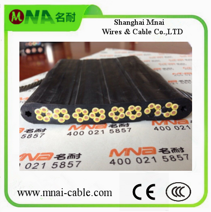 Flexible PVC Flat/Round cctv cable for elevator France Hotselling