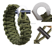 Adjustable Premium Paracord Survival Bracelet with Fire Starter And Sharpe Eye Knife