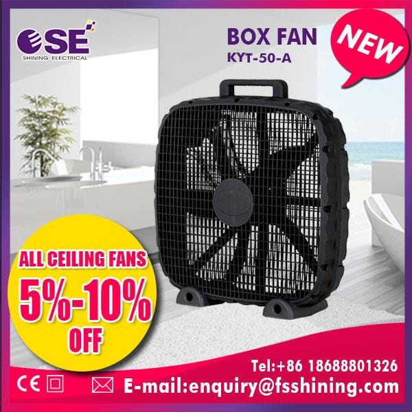 prowerful wind design manufacturer wholesale portable box fan full copper motor with fuse