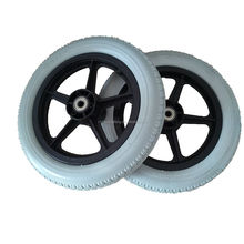 PU foam wheel 12.5x2.125 with plastic hub for baby cart use