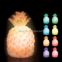 Color Changing LED White Ceramic Pineapple Shaped Modelling Table light Lamp