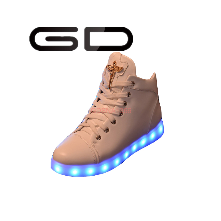 GD supply new types LED shoes 5 colors changeable high top sneakers women