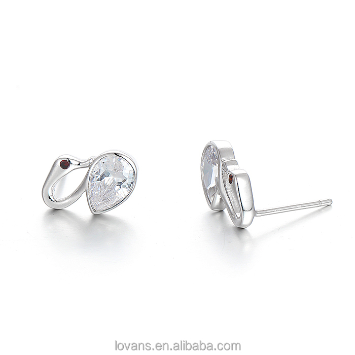 Stud Earring little girl Diamond Earrings Silver little girl Diamond Earrings Jewelers