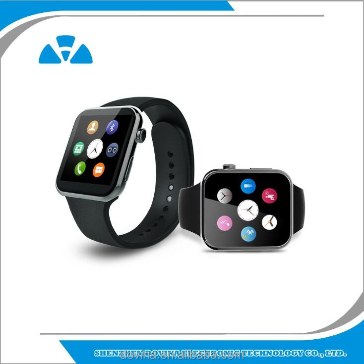 Dovina A9 smart watch Silicone Wristband for Apple iOS smartphone iphone 4 / 4S / 5 / 5C / 5S / 6 Android Samsung S2 / S3 / S4