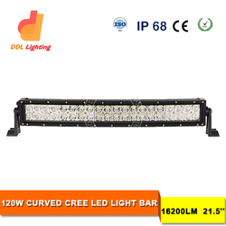Super slim 21.5 inch 120w SUPER WHITE IP68 SMD curved led light bar cover/PARKING SIGNAL LIGHT BULB