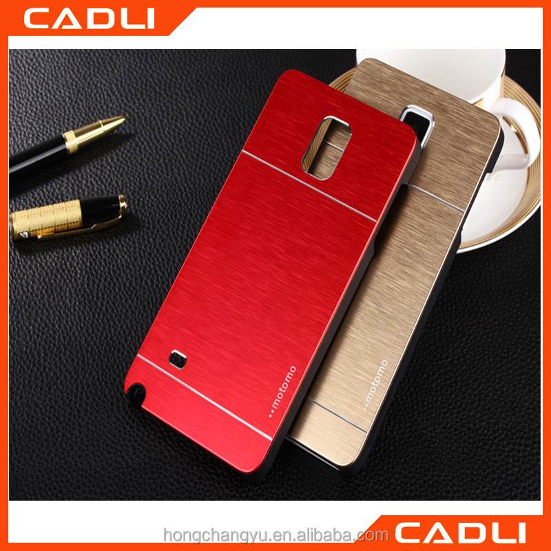 2016 Hot selling Aluminium Metal MOTOMO Mobile phone shell for Samsung Note4