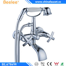 Beelee BL6784W Superior Quality UK Style Wall Mounted Bath Shower Mixer with Hand Shower with Diverter