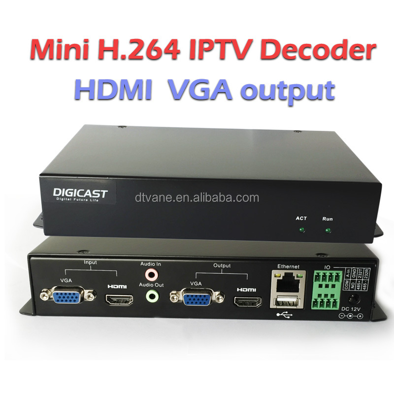 (DMB-8800B) IPTV Solution MPEG-4 AVC/H.264 Full HD Video IPTV Encoder Decoder for H264 IP Decoder RTSP