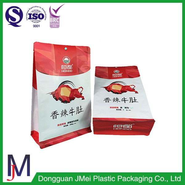 Flat Bottom Fried Chicken Food Grade Paper Bag with Clear Window