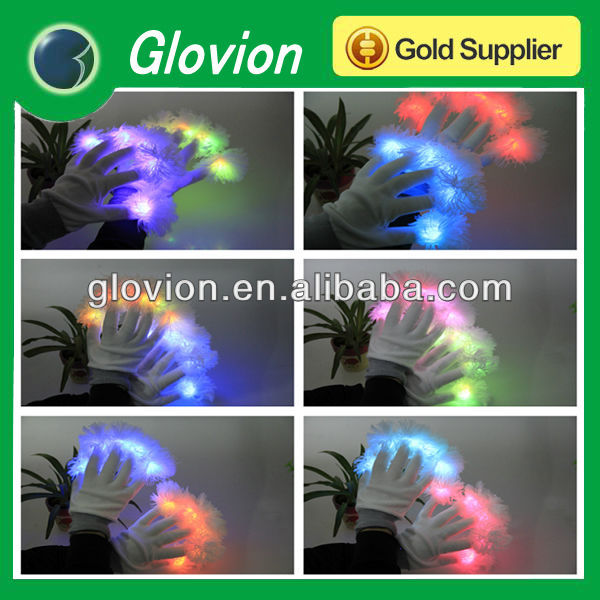 Color changing LED Gloves luminous flash glove five finger lights for stage performance