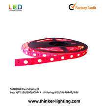 Shenzhen Waterproof 5050 Rigid led cheap rechargeable flexible led strip 220v