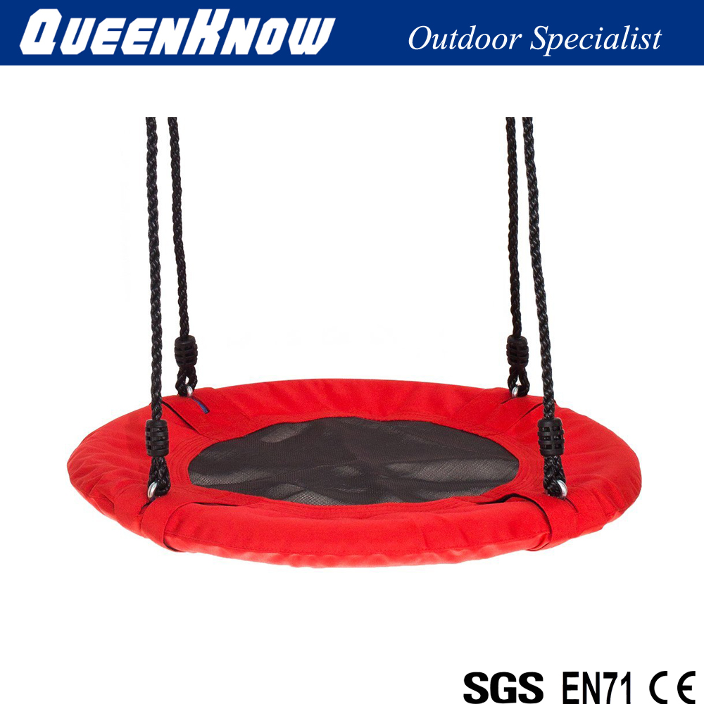 Tree Saucer Swing with Adjustable Hanging Ropes, Ready to Hang for Garden