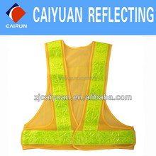CY 100% Polyester Visibility Vest Safety Safety Yellow Work Wear High Reflective Safety Vest High Visibility