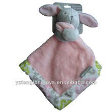 Promotional Baby Security Blanket Plush Pink Rabbit Comforter