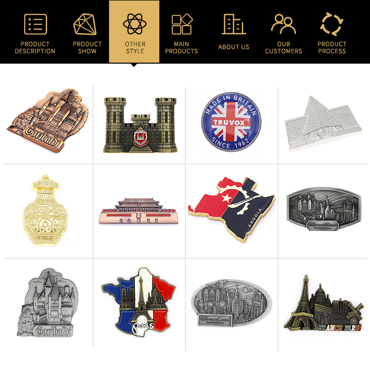 Factory cheap custom 3d tourism souvenirs fridge magnets