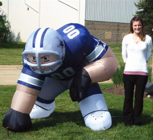 Ningbang hot sale nfl inflatable player lawn figure