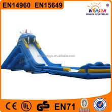 new product inflatable jungle water slide pool for kids and adults