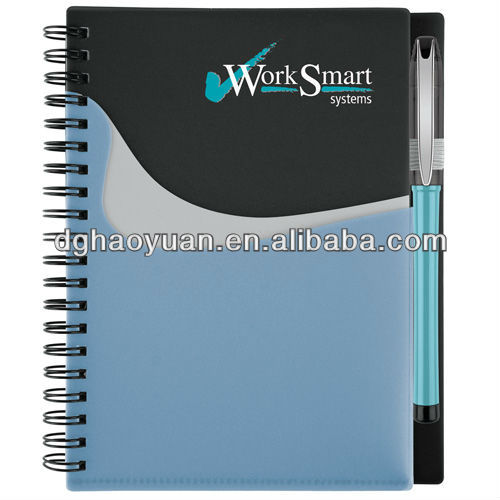 Promotion pocket buddy notebook with ballpoint pen