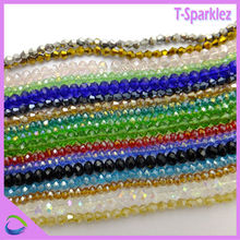 Factory price crystal bead hanging decoration / crystal glass beads curtains for wholesale