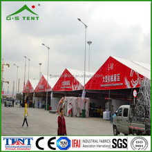custom made expandable red-white tent shelter