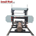 wood log cutting machine,saw mill,horizontal bandsaw