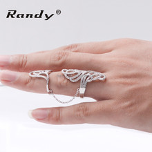 Knuckle Adjustable Hinged Long Double Full Finger Ring,Armour Ring Jewelry