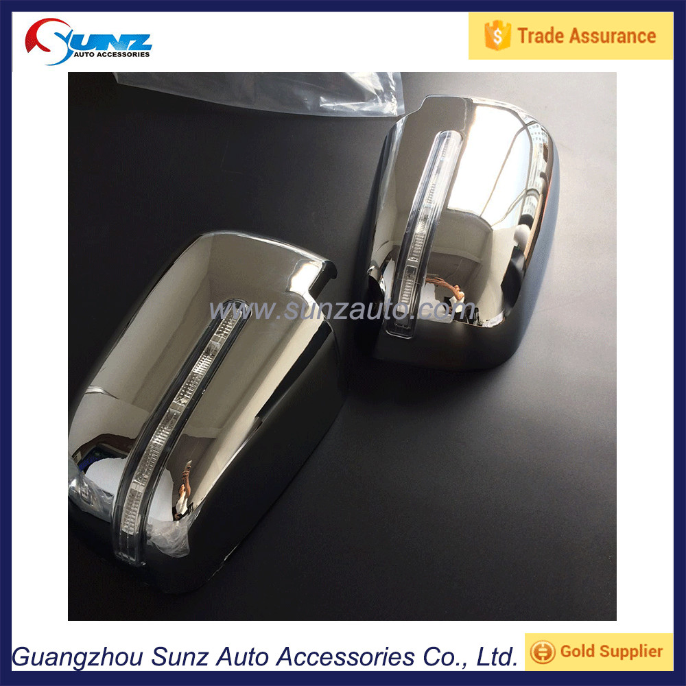 <strong>L200</strong> Triton 2015 ABS Chromed Side View Mirror Cover With <strong>Led</strong> Lights Mitsubishi Truck Door Mirror Cap Plating Accessories