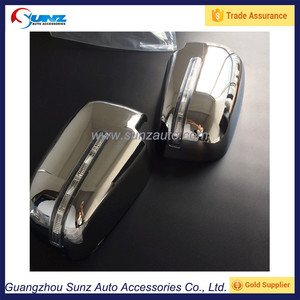 L200 Triton 2015 ABS Chromed Side View Mirror Cover With Led Lights Mitsubishi Truck Door Mirror Cap Plating Accessories