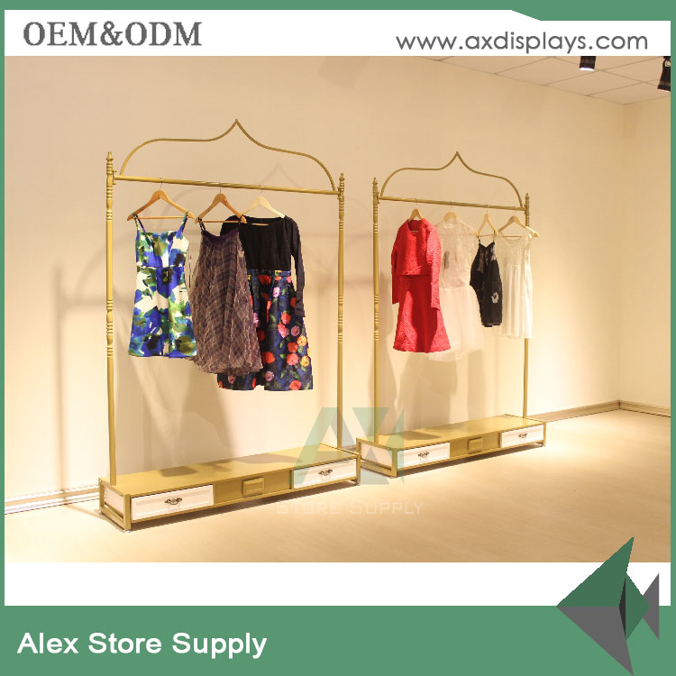 Name brand retail store standard supply clothing store furniture wall clothes store display rack