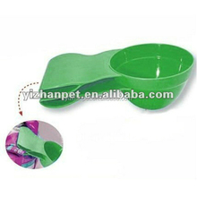 Plastic pet shovel food scoop with clip for pets