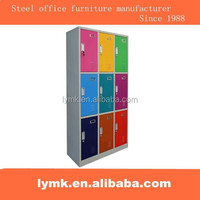 Steel office furniture China supplier used school clothes storage student color door locker for sale