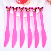 Mickey Mouse Party Supplies Disposable Plastic Knife/Fork/Spoon Kids Birthday Baby Shower Decoration Mickey Mouse