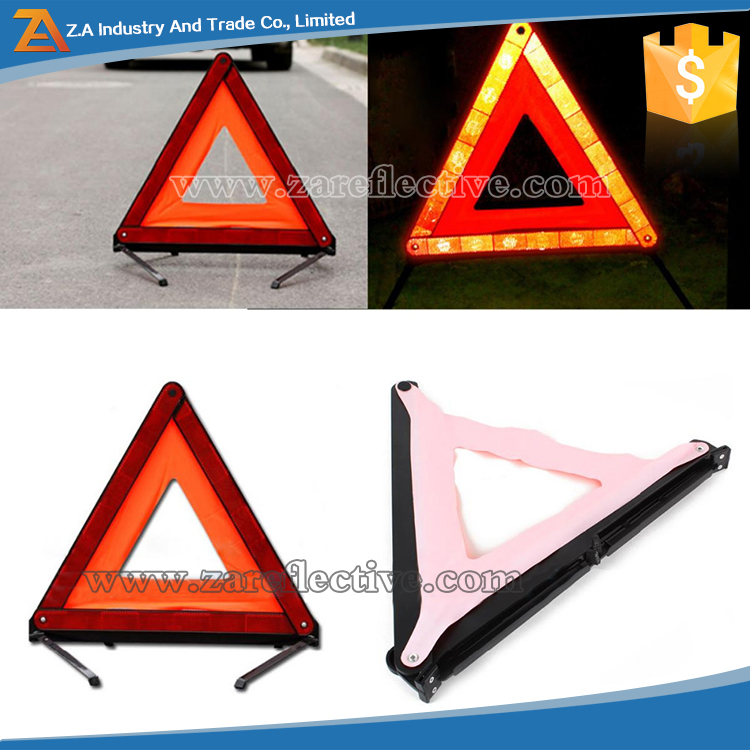 Detachable & Folding Safety Barrier ,Emergency Tools Auto Triangle Reflector,Emergency Road Flasher Reflector- Warning Triangle