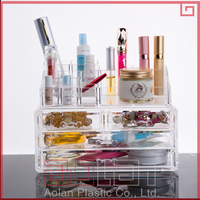 2016 acrylic organizer for cosmetics acrylic cosmetic jar acrylic makeup box