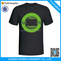Men's Home Wash Black Simple T Shirt Casual Style