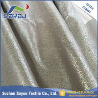 Genuine thin shiny suede fabric