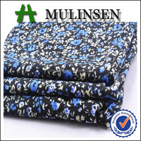 2016 SS Mulinsen Textile Small Flower Printed Knitting 4 Way Stretch 94 Polyester 6 Spandex Fabric for Women Dresses