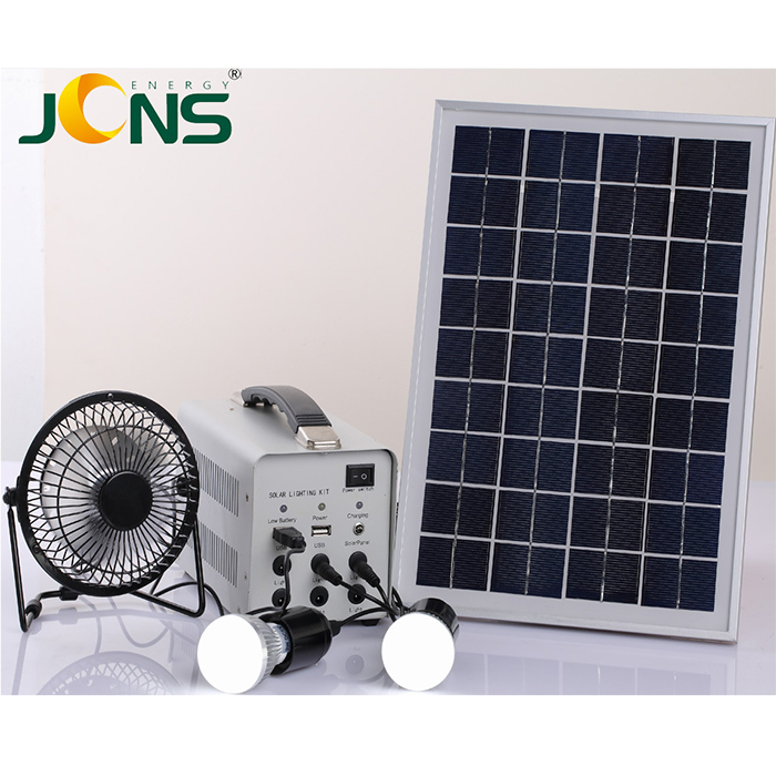 Shenzhen JCN 5W portable solar light system with LED bulbs for home use