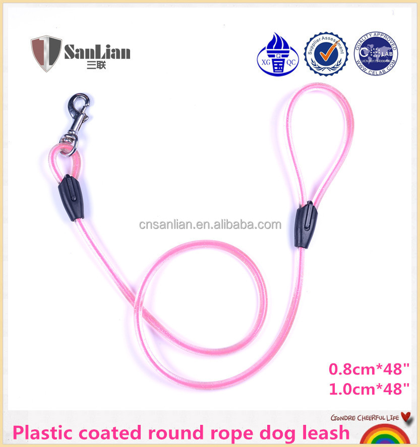 New Style pet Dog Lead Solid Rubber Rope
