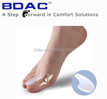 gel toe spreader for overlapped toes as foot toe care