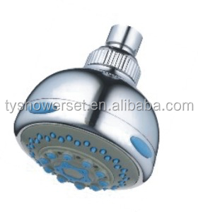 Wall mounted round small rotating shower head