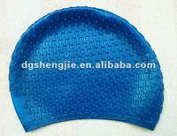 High quality of 100% silicon waterproof swimming caps/hat
