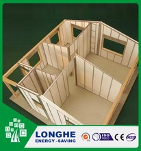 Sound insulated light weight cement eps sandwich panel for wall / floor