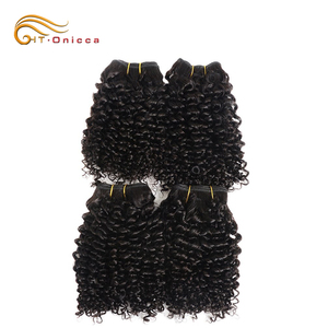 Dye Any Color Raw Curly Indian Temple Natural Wholesale Brazilian Hair Weave