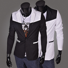 RT BE TOP 2015 black and white Fashion slim fit Jacket suit Men Formal suit jacket PX13 M-XXL
