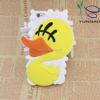 girly big yellow duck silicone smartphone case for phone 5