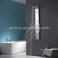 Multi function sanitary ware, fancy bathroom design, mirror finish stainless steel shower panel