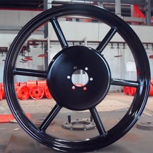 "26"" inch steel wheel rim 6spoke"