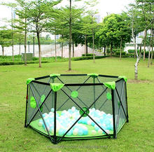 Portable Large baby playpen folding safety round playard safety fence