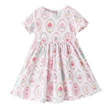Wholesale Improted Collection Kids Girl Cartoon Cake Cotton Pink Dress Sleeveless Dresses For Girls